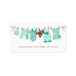 Baby Clothes Address Labels