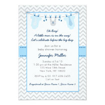 Baby Clothes Baby Boy Baby Shower Invitations