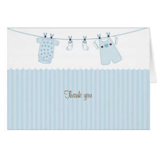 Baby Clothes Baby Boy Thank You Note Cards
