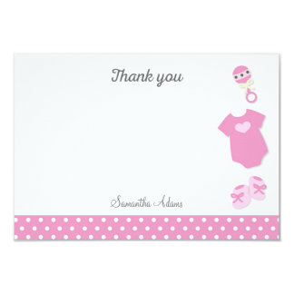 Baby Clothes Baby Shower Thank You Card