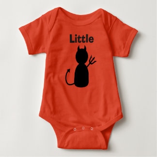 "Baby Clothes Bodysuit "" Little Devil"" - Red"