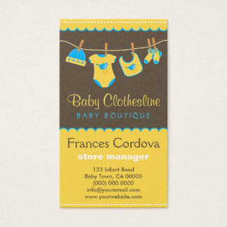 Baby Clothes Clothesline Boutique Business Cards