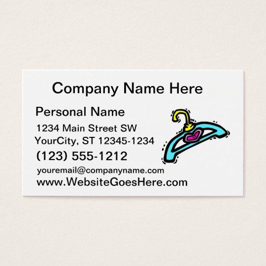 Baby clothes hangar pink heart business card