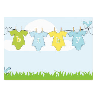Baby clothes illustration business cards