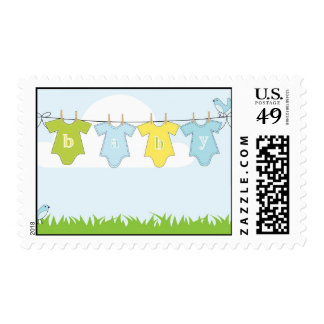Baby clothes illustration postage