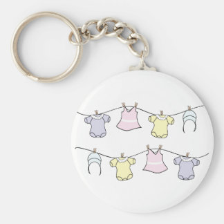 Baby Clothes Line Keychain