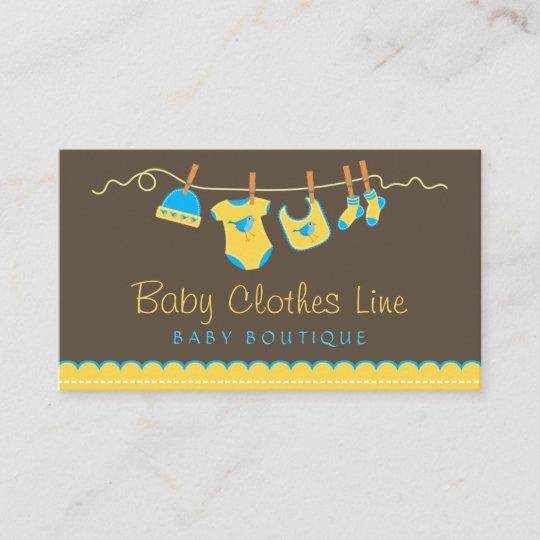 Baby Clothes Line Store Boutique Business Card Zazzle