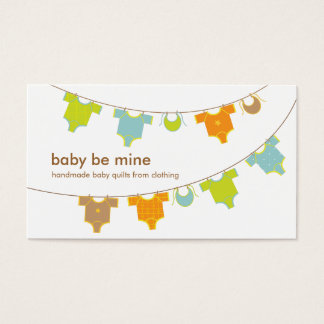 Baby Clothes on a Clothesline Business Card
