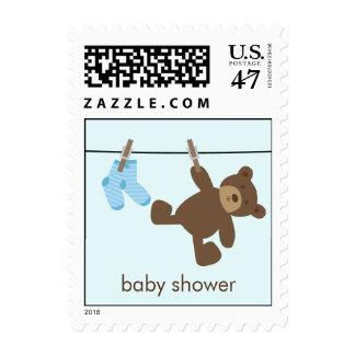 Baby Clothesline {blue} Postage