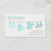 Baby Clothesline Mommy Calling Cards