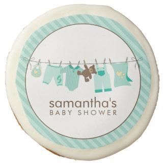 Baby Clothesline Neutral Baby Shower Sugar Cookie