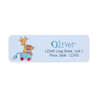 Baby clothesline Shower invitation Address Label