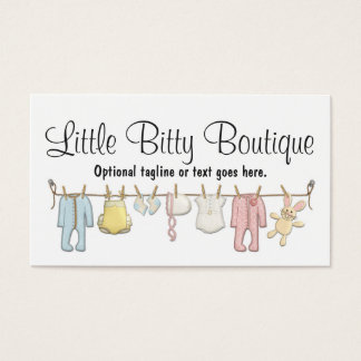 Baby Clothing on Clothesline, Sewing Boutique Business Card