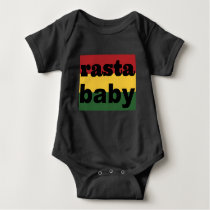 Baby Clothing Rasta Baby One Piece Black Baby Bodysuit