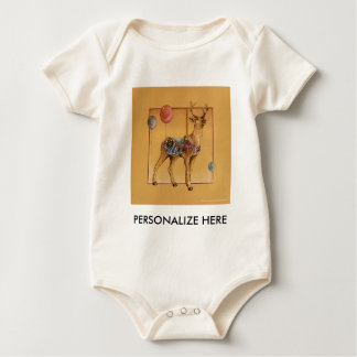 Baby Clothing, Tees - Carousel Reindeer or Elk