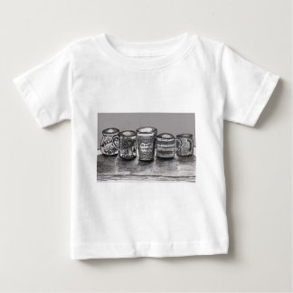 Baby Clothing with Coffee Cup Art Baby T-Shirt