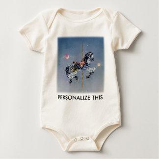Baby Clothings - Grey Mare Carousel Horse Bodysuit