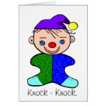 Baby Clown Knock - Knock Joke Greeting Card