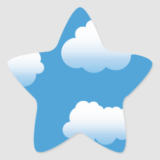 Baby Clue Clouds in the Sky Star Sticker