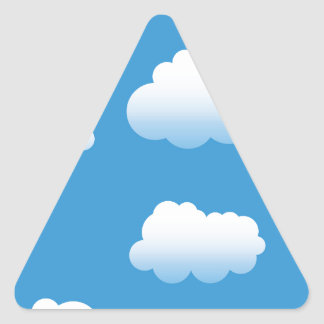 Baby Clue Clouds in the Sky Triangle Sticker