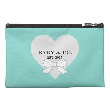 McTiffany Tiffany Aqua BABY & CO. Blue Tiffany Heart Travel Accessory Bag