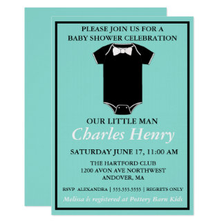 BABY & CO Boy Baby Shower Party Invitation
