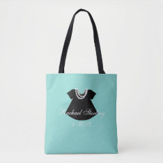 Baby & Co Girl Little Black Dress Party Tote Bag at Zazzle