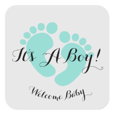 McTiffany Tiffany Aqua BABY & CO It's A Boy Baby Party Stickers