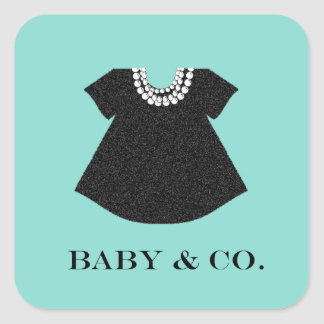 BABY & CO Little Black Dress Baby Shower Stickers