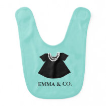 BABY & CO Little Black Dress Party Baby Bib