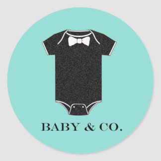 BABY & CO Little Man Baby Shower Party Stickers