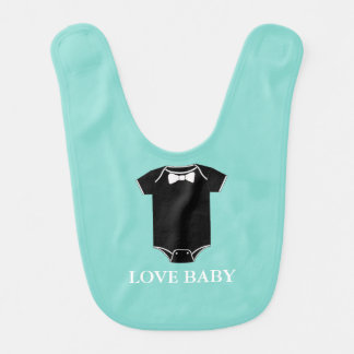 BABY & CO Little Man Boy Baby Shower Party Bib