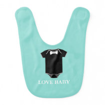 BABY & CO Little Man Shower Party Love Baby Baby Bib