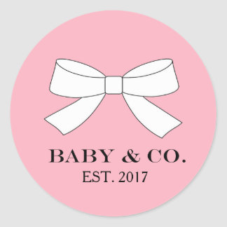 BABY & CO. Pink Baby Girl Shower Party Stickers