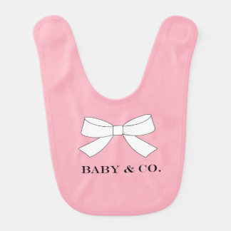 BABY & CO Pink Baby Shower Party Baby Bib