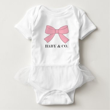 McTiffany Tiffany Aqua BABY & CO Pink Baby Tutu Bodysuit
