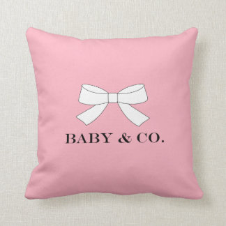 BABY & CO Pink Girl Baby Throw Pillow