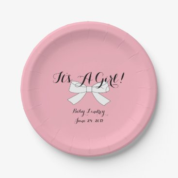 McTiffany Tiffany Aqua BABY & CO Pink It's A Girl Shower Party Plates