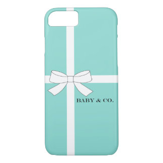 BABY & CO Shower Blue And White iPhone Case