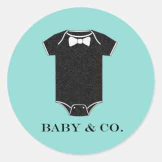BABY & CO. Tiffany Baby Boy Shower Stickers