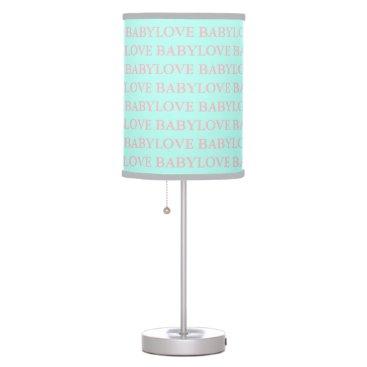 McTiffany Tiffany Aqua BABY & CO Tiffany Baby Love Pink and Mint Lamp