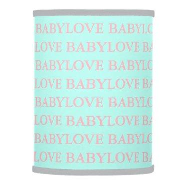 McTiffany Tiffany Aqua BABY & CO Tiffany Baby Love Pink & Mint Lamp Shade
