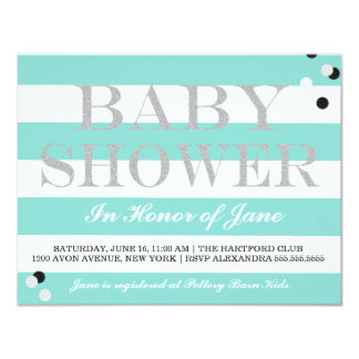 BABY & CO. Tiffany Party Baby Shower Invitation