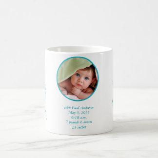 Baby COFFE MUG Baby Photo Important Birth Stats