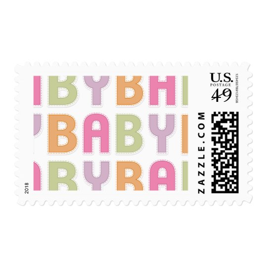 Baby Colorful Letters stamps