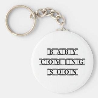 Baby Coming Soon Keychain