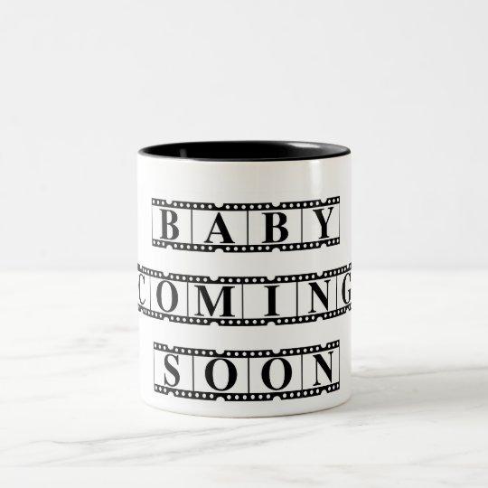 Baby Coming Soon Two-Tone Coffee Mug