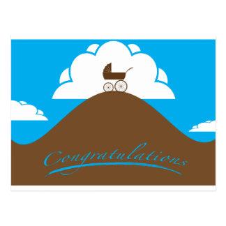 Baby Congrats Blue Postcard