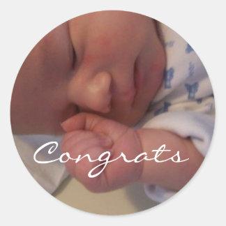 Baby, Congrats Classic Round Sticker