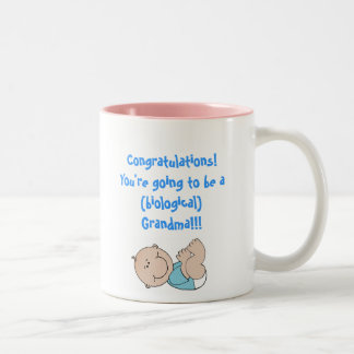 baby, Congratulations!You're going to be a (bio... Two-Tone Coffee Mug